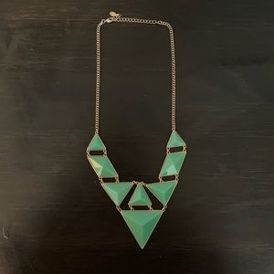 🔸 Geometric Statement Necklace